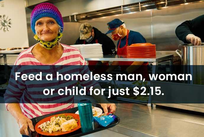 buy meals for homeless